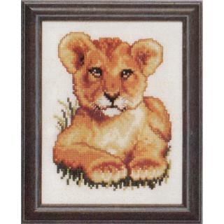 Zählmusterpackung Löwenbaby