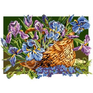 Sticktwist-Gobelin Iris-Körbchen