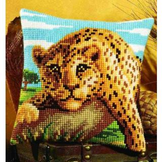 Kreuzstichkissen Gepard