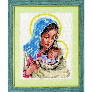 vorgezeichnetes Kreuzstich-Bild Madonna