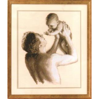 Zählmusterpackung Vater und Kind - Zählleinen