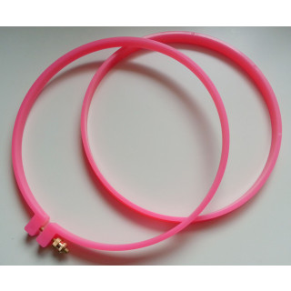 Stickring, ca. 185 mm, Plastik, pink