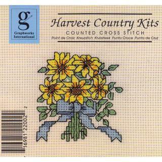 Zählkreuzstich-Stickpackung Blumengruß