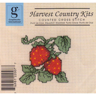 Zählkreuzstich-Stickpackung Erdbeeren