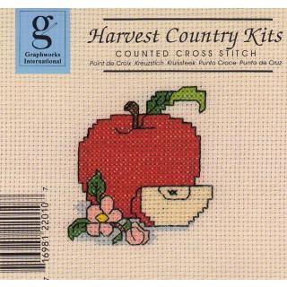 Zählkreuzstich-Stickpackung Apfel