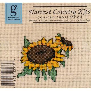 Zählkreuzstich-Stickpackung Sonnenblume