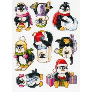 Musterbogen Fröhliche Pinguine