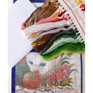 Zählmusterpackung Tiere der Jahreszeiten, 54 x 48 cm