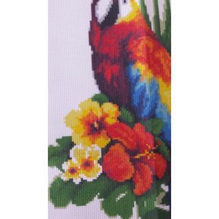 Vorgedruckte Zählmusterpackung Märchenhafter Papagei, 22 x 39 cm