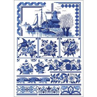 Musterbogen Klassisch blau