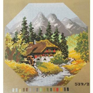 Straminplatte Sommer in den Bergen