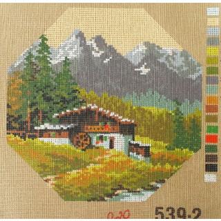 Straminplatte Mühle in den Bergen