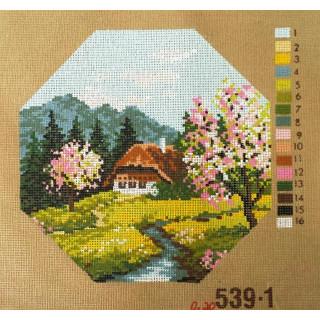 Straminplatte Frühling am Bach