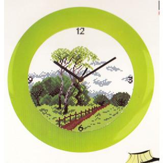 Zählmuster-Kreuzstichpackung Uhr Sommer