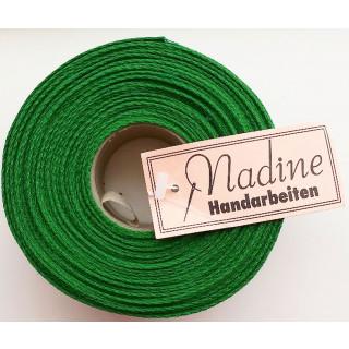 Leinenband, 4,5 cm breit, grün, 10 Meter