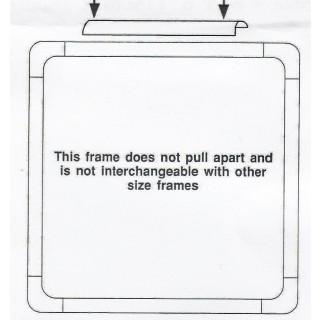 """Craft Frame für Kreuzstich 6"""", 15 x 15 cm"""