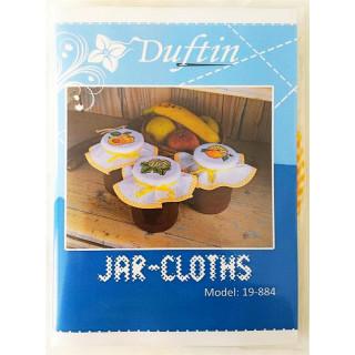 Zählmusterpackung 3 Stück Marmeladen-Deckchen, gelb