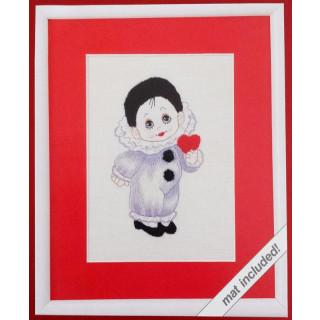 ANTIQUITÄT - Stickbild Little Pierrot