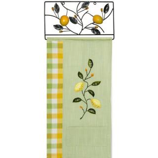 Stick-Wandbehang / Küchenbehang Zitronen, inkl. Bügel