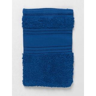 Waschhandschuh mit Aida-Einsatz, blau