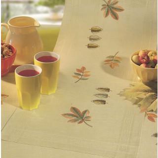 Stickläufer Herbstlaub, 40x100 cm