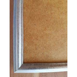 Silberner Holzrahmen für unsere Sticktwist-Gobelins
