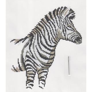 Kreuzstich-Effektbild Zebra