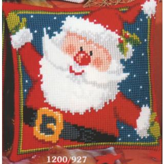 Kreuzstichkissen Weihnachtsmann