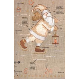 Stick-Wandbehang Weihnachtsmann