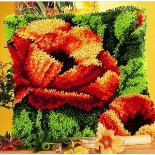 Knüpfkissen Flower