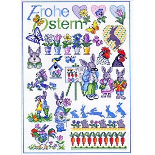 Musterbogen Frohe Ostern
