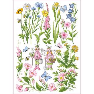 Musterbogen Wiesenblumen